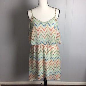 Rue 21 High-Low Chevron Boho Dress-XL